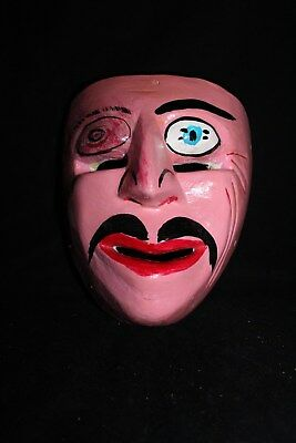 065 EL GOLPEADO FACE DANCE MEXICAN WOODEN MASK mascara danza arte wall decor