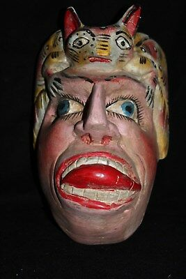 100 RARE ANIMAL MEXICAN WOODEN MASK artesania zompantle wall decor home madera