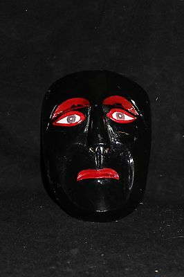 142 EL NEGRO FACE DANCE MEXICAN WOODEN MASK mascara danza wall decor artesania