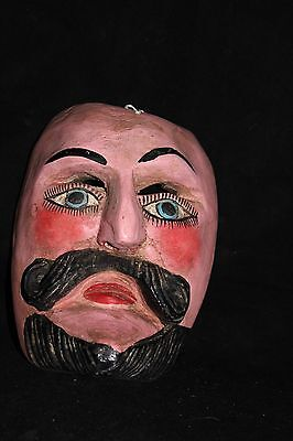 143 FACE MEXICAN WOODEN MASK mascara artesania wall decor madera Mexico