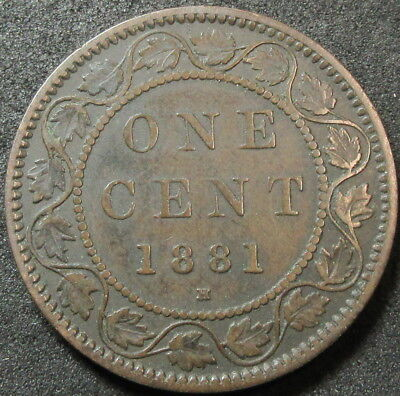 1881-H Canada Cent Coin