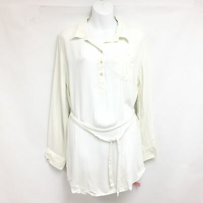 Liz Lange Women Sour Cream Wrap Blouse MSRP$ 24.99