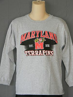 NEW University of Maryland Terrapins Longsleeve T-Shirt Terps BOYS Size M L  XL 015974bda8