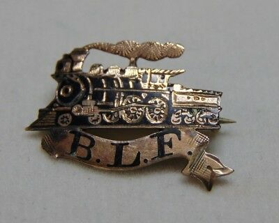 Turn of the Century 1800s Brotherhood of Locomotive Firemen Pin Black Enamel