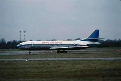 Orig.Aircraft Slide Europe Aero Service Caravelle F-BYCD, 1979