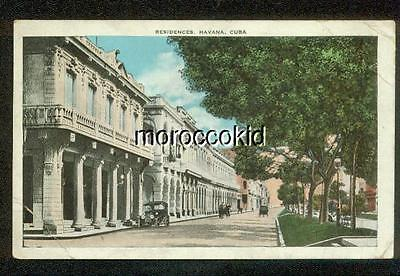 HAVANA HABANA CUBA EARLY RESIDENCES AND HOMES w OLD FLIVVER & HORSE DRAWN BUGGY
