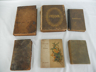 Lot of 6 Antique Vtg 1800-1900's Ivanhoe, Jerusalem, Proverbial Philosophy, Cave