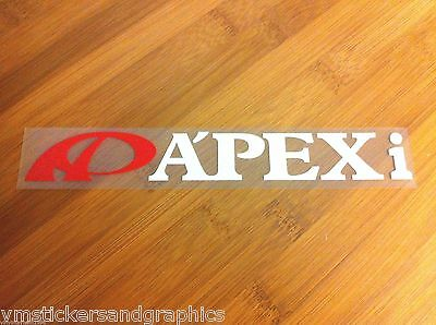 APEXi APEX Integration JDM vinyl 2 color sticker decal intake exhaust suspension