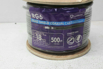 Southwire 500 ft 18 AWG RG6/U Quad Shield Coaxial Cable 56918445