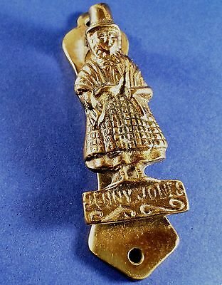 "Vintage "" Jenny Jones Welsh Lady "" Brass Door Knocker 92 mm Long"