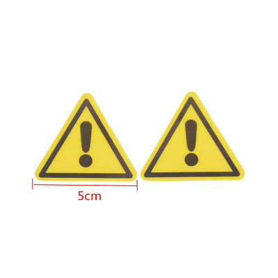 2x Industrial Safety Decal Sticker caution GENERAL WARNING label 5CM Fad*