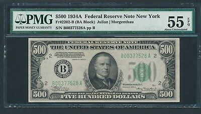 1934A $500 Five Hundred Dollar Bill Currency Cash Note Money PMG AU 55 EPQ