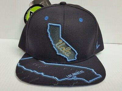 save off 0d203 e7dfb ... 50% off ucla bruins zephyr cap flat brim snapback gray stateline hat  ncaa b6789 ff476