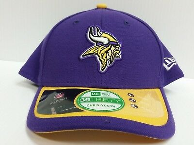 b700010a1bd YOUTH Minnesota Vikings Cap New Era 39Thirty Stretch 2015 On-Field Sideline  Hat