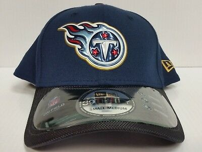 outlet store 5c7de e41fa Tennessee Titans Cap New Era 39Thirty Stretch Fit Gold Collection 50th Hat