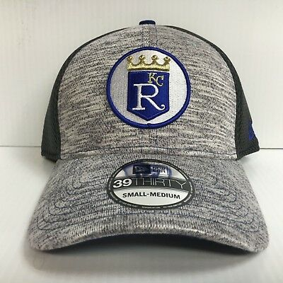 buy online 2765a a09f1 Kansas City Royals Cap New Era 39Thirty Stretch Clubhouse Neo Mesh Hat  Throwback