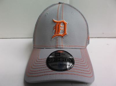 DETROIT TIGERS CAP New Era 39Thirty Stretch Fit Fitted Hat Gray Neo ... 9b5ca2dbfa57