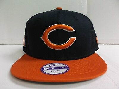 YOUTH Chicago Bears Snapback Cap New Era 9Fifty Flat Brim Kid Baycik Hat NFL bffc09a5b863