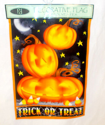pd home and garden halloween trick or treat pumpkins orange black garden flag d - Pd Home And Garden