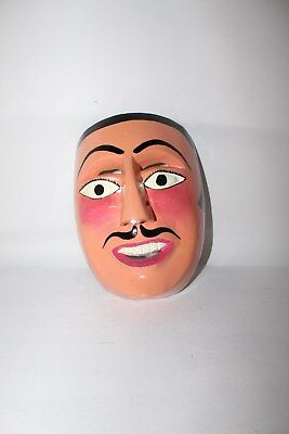 369 FACE DANCE MEXICAN WOODEN MASK mascara danza artesania authentic characters