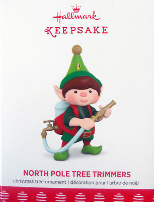 """2017 Hallmark ~ """"north Pole Tree Trimmers"""" -  #5 In The Series"""