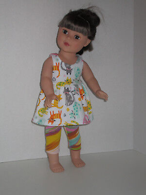 "Colorful Cat/Stripe Capri Leggings for 18"" Doll Clothes American Girl"