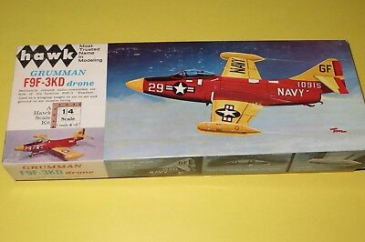 Hawk 1/48 Scale Grumman F9F-3KD Drone, Kit #502-100, Dated 1965 OOP