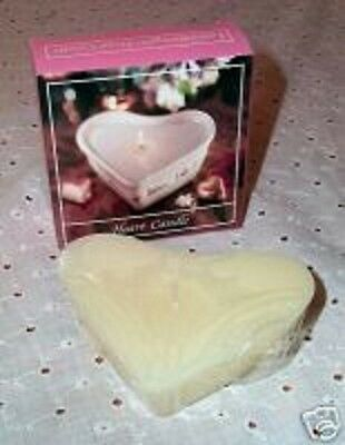 Longaberger Candles Heart Shaped Fit Heart Pottery Dish Set 3 New In Box