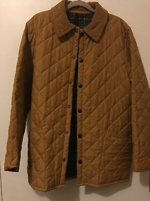 Barbour Classic Eskdale Jacket Small Coat S Mustard Yellow Quilted