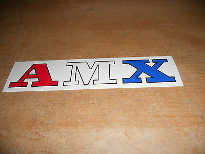 1978 1979 1980 Amc Amx Logo Decal Sticker 7""