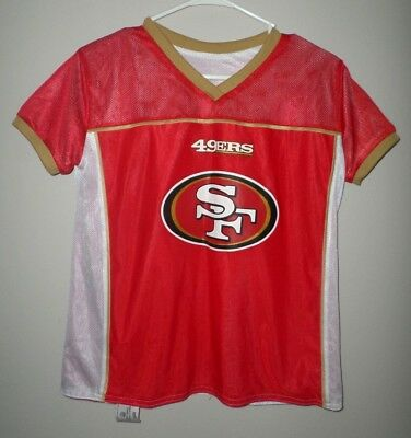 ffd1aafb1 SAN FRANCISCO 49ERS youth lrg flag football jersey NFL reversible Play 60