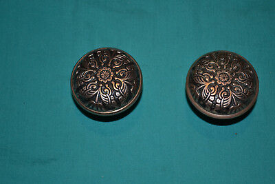 One Set Of Brass Door Knobs East Lake, Antique Vintage Architectural