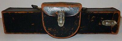 Antique Vintage Leather Surveyor Compass Transit Scientific Instrument Case ONLY
