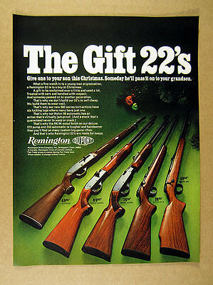 1967 Remington 22 .22 Rifles Nylon 66 552 572 514 & 582 rifle models print Ad