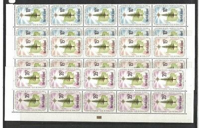 1975 Norfolk Island Christmas SG 165/7 muh block 10 set