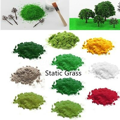 30g 2mm Simulation Woodland Scenics Static Grass Flock Scatter Scenery Grass New