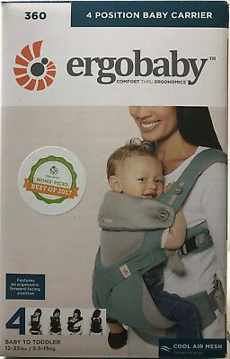 Ergobaby 360 4 Position Infant Child Baby Carrier Cool Air Icy Mint AUTHENTIC