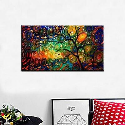 ZWPT110 fine landscape tree 100% hand-painted   oil painting art on Canvas