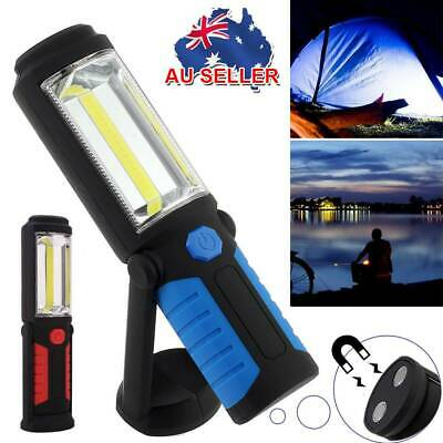 Rechargeable COB+LED Hand Torch Lamp Magnetic Inspection Work Light Flexible AU