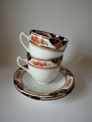 TWO SUTHERLAND EARLY TEA CUPS& SAUCERS c1910