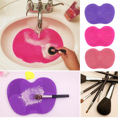 Makeup Cosmetic Brush Cleaner Cleanser 23*17cm Washing Silicone Pad Mat Scrubber