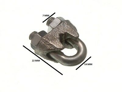 Wire Rope Clamp U Bolt Cable Grip 5mm 3/16 ZP  Pack Size 200