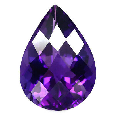 14.33 Ct Aaa! Purple Clr Change To Pink Amethyst Pear With Checkerboard Brazil