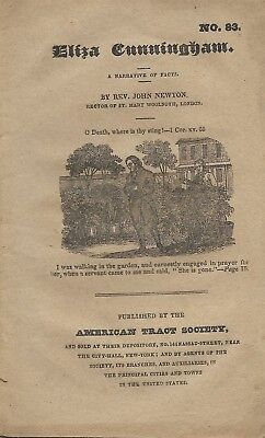 Antique Tract No. 83 Eliza Cunningham By Rev John Newton American Tract Society