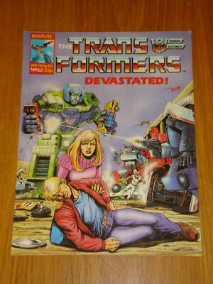 Transformers British Weekly #62 Marvel Uk Comic 1986
