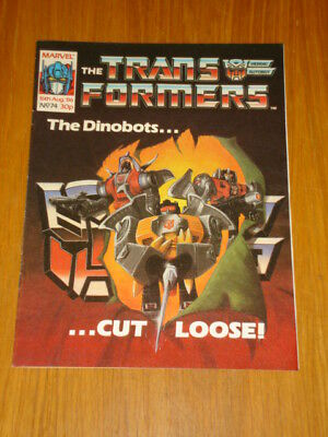 Transformers British Weekly #74 Marvel Uk Comic 1986