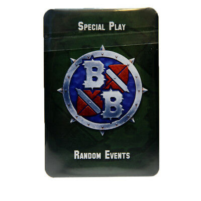 Games Workshop Blood Bowl & Other Games Special Play Random Events Cards