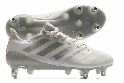 adidas Mens Kakari Light Soft Ground Rugby Boots Sports Shoes Studs White