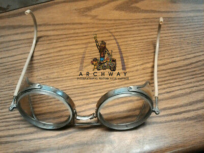 American Optical AO Safety Glasses Side Shields Vintage Motorcycle Steampunk