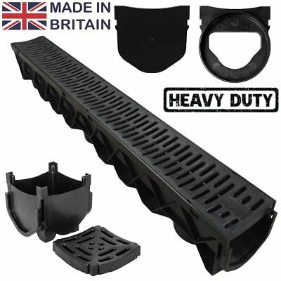 Drain Channel Quad Box End Cap End Outlet Drainage Plastic Heavy Duty - UK